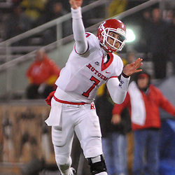 Oct 23, 2009; West Point, N.Y., USA; Rutgers quarterback Tom Savage (7) makes a pass during Rutgers' 27 - 10 victory over Army at Michie Stadium.