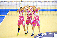 Toafa Takaniko / Keith Pupart / Senger Tommy - 20.12.2014 - Paris Volley / Sete - 12eme journee de Ligue A<br /> Photo : Andre Ferreira / Icon Sport