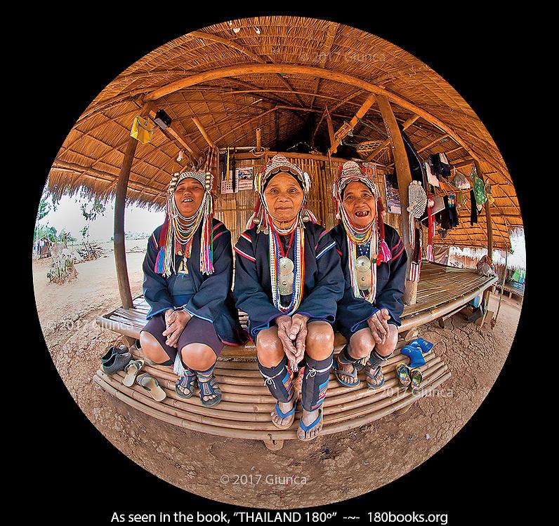 Akha Tribe Women posing for a photo
