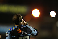 Cory Allen of Cardiff Blues looks on. Guinness Pro12 rugby match, Cardiff Blues v Scarlets at the BT Cardiff Arms Park in Cardiff, South Wales on Friday 28th October 2016.<br /> pic by Andrew Orchard, Andrew Orchard sports photography.