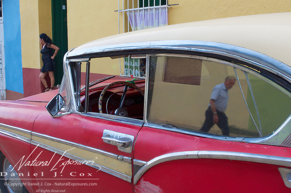 A vintage car on the streets of Trinidad, Cuba.