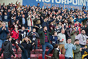 Dundee fans at full time - Motherwell v Dundee, Fir Park, Motherwell, Photo: David Young<br /> <br />  - © David Young - www.davidyoungphoto.co.uk - email: davidyoungphoto@gmail.com