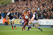 Kyel Reid of Bradford City and Chris Taylor of Millwall during the Sky Bet League 1 Playoff Semi-final Leg Two at The Den, London<br /> Picture by Alan Stanford/Focus Images Ltd +44 7915 056117<br /> 20/05/2016