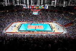 07.09.2014, Krakow Arena, Krakau, POL, FIVB WM, Italien vs USA, Gruppe D, im Bild wypelniona widzami hala Krakow Arena, komplet widzow w Krakowie // during the FIVB Volleyball Men's World Championships Pool D Match beween Italy and USA at the Krakow Arena in Krakau, Poland on 2014/09/07. EXPA Pictures © 2014, PhotoCredit: EXPA/ Newspix/ Krzysztof Porebski<br /> <br /> *****ATTENTION - for AUT, SLO, CRO, SRB, BIH, MAZ, TUR, SUI, SWE only*****