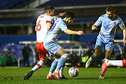 Liam Walsh of Coventry City(20) and Richard Wood of Rotherham United (6) battle for the ball during the EFL Sky Bet League 1 match between Coventry City and Rotherham United at the Trillion Trophy Stadium, Birmingham, England on 25 February 2020.