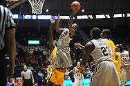 "Ole Miss' Jarvis Summers (32) shoots vs. McNeese State at the C.M. ""Tad"" Smith Coliseum in Oxford, Miss. on Tuesday, November 20, 2012. .."