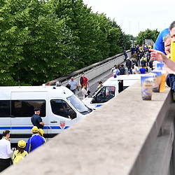 Security outside the stadium for the the Top 14 Final between RC Toulon and Clermont Auvergne  at Stade de France on June 4, 2017 in Paris, France. (Photo by Dave Winter/Icon Sport)