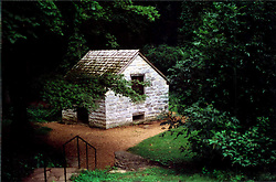 2001 September: Stone structure on the property of Andrew Jackson's Hermitage..This image was scanned from a print.  Image quality may vary.  Dust and other unwanted artifacts may exist.