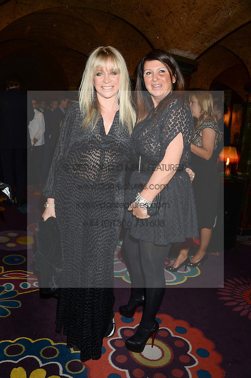 Left to right, JO WOOD and FRAN CUTLER at Tatler Magazine's Little Black Book Party held at Annabel's, Berkeley Square, London on 5th November 2013.