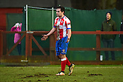 Dorking Wanderers Matt Briggs during the Ryman League - Div One South match between Dorking Wanderers and Lewes FC at Westhumble Playing Fields, Dorking, United Kingdom on 28 January 2017. Photo by Jon Bromley.