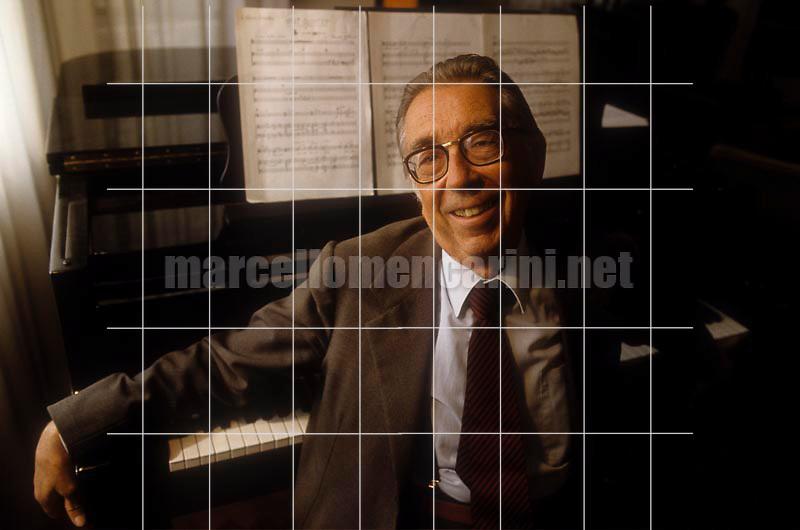 Italian composer Riccardo Malipiero (1988) / Il compositore Riccardo Malipiero (1988) - © Marcello Mencarini