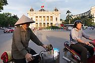 Opera House facade, Hanoi, Vietnam, Southeast Asia