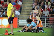 Tatafu Polota-Nau leaves the filed. Queensland Reds v NSW Waratahs. Investec Super Rugby Round 10 Match, 24 April 2011. Suncorp Stadium, Brisbane, Australia. Reds won 19-15. Photo: Clay Cross / photosport.co.nz