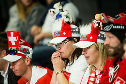 Supporters of Switzerland during the 2017 IIHF Men's World Championship group B Ice hockey match between National Teams of Canada and Switzerland, on May 13, 2017 in AccorHotels Arena in Paris, France. Photo by Vid Ponikvar / Sportida