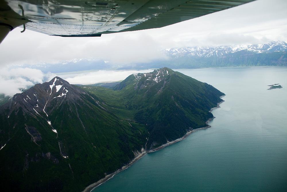 Alaska2010.-An ariel view of the Kenai Peninsula.