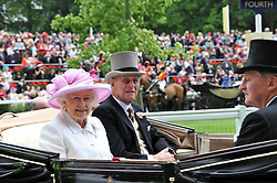 HM THE QUEEN and the DUKE OF EDINBURGH at day 2 of the 2011 Royal Ascot Racing festival at Ascot Racecourse, Ascot, Berkshire on 15th June 2011.
