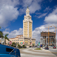 Historic Freedom Tower, Miami surrounded by highrise condos being developed.  Image from a series called Paradise Lost, the changing face of Miami.