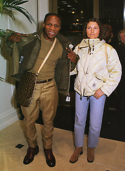 MR & MRS CHRIS EUBANK, he is the boxer, at a party in London on 23rd February 1999.MOO 98
