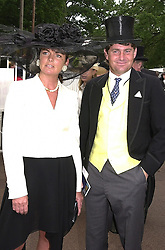 MR CHARLIE BROOKS and his close friend MRS MIRIAM <br /> FRANCOME, at Royal Ascot on 20th June 2000.OFN96<br /> © Desmond O'Neill Features:- 020 8971 9600<br />    10 Victoria Mews, London.  SW18 3PY <br /> www.donfeatures.com   photos@donfeatures.com<br /> MINIMUM REPRODUCTION FEE AS AGREED.<br /> PHOTOGRAPH BY DOMINIC O'NEILL