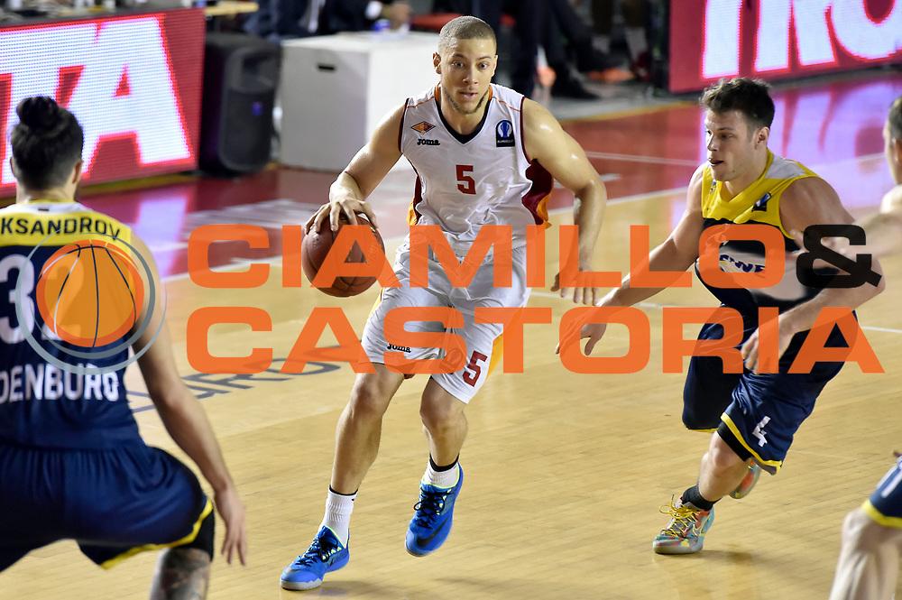 DESCRIZIONE : Eurocup 2014/15 Acea Roma Ewe Basket Oldenburg<br /> GIOCATORE : Brandon Triche<br /> CATEGORIA : palleggio<br /> SQUADRA : Acea Roma<br /> EVENTO : Eurocup 2014/15<br /> GARA : Acea Roma Ewe Basket Oldenburg<br /> DATA : 12/11/2014<br /> SPORT : Pallacanestro <br /> AUTORE : Agenzia Ciamillo-Castoria /GiulioCiamillo<br /> Galleria : Acea Roma Ewe Basket Oldenburg<br /> Fotonotizia : Eurocup 2014/15 Acea Roma Ewe Basket Oldenburg<br /> Predefinita :