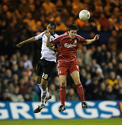 LUTON, ENGLAND - Sunday, January 6, 2008: Liverpool's Xabi Alonso and Luton Town's Calvin Andrew during the FA Cup 3rd Round match at Keniworth Road. (Photo by David Rawcliffe/Propaganda)