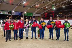 BWP Elitehengsten, Kristof De Pauw, .., Jozef Bauters, .., Paul Mais, Jilbertvan't Ruytershof, Joris De Brabander, El Torreo de Muze, Luc Tilleman, Dieu-Merci van T&L, .., Haemerlinck Melanie, Kafka van de Heffinck<br /> BWP hengstenkeuring - Lier 201<br /> © Hippo Foto - Dirk Caremans<br /> 18/01/2019