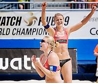 29. Juni 2009 , VM Sandvolleyball , beachvolleyball , stavanger , kvinner , Norge - Ukraina ,  Kathrine Maaseide , Janne Kongshavn , Norge , Foto: Tommy Ellingsen