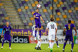 Marwan Kabha #8 of NK Maribor and Valon Ahmedi #7 of NK Maribor during 1st Leg football match between NK Maribor (SLO) and FH Hafnarfjordur (ISL) in Third qualifying round of UEFA Champions League 2017/18, July 26, 2017, in Stadium Ljudski vrt, Maribor, Slovenia. Photo by Grega Valancic / Sportida