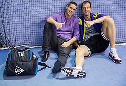 Gregor Krusic and Primoz Brezec at Slovenian Tennis personality of the year 2014 annual awards presented by Slovene Tennis Association TZS , on December 6, 2014 in Millenium Centre, BTC, Ljubljana, Slovenia. Photo by Vid Ponikvar / Sportida