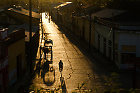 BARACOA, CUBA - CIRCA JANUARY 2020:S treets of Baracoa at sunset.
