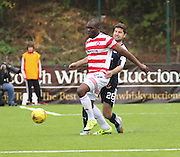 Hamilton Academical's for mer Dundee striker Christian Nade and Dundee&rsquo;s Kostadin Gadzhalov  - Hamilton Academical v Dundee, Ladbrokes Premiership at New Douglas Park<br /> <br /> <br />  - &copy; David Young - www.davidyoungphoto.co.uk - email: davidyoungphoto@gmail.com