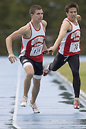Harrietha, Andrew competing in the distance medley relay at the 2007 OTFA Junior-Senior Championships in Ottawa.