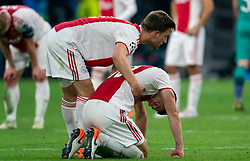 08-05-2019 NED: Semi Final Champions League AFC Ajax - Tottenham Hotspur, Amsterdam<br /> After a dramatic ending, Ajax has not been able to reach the final of the Champions League. In the final second Tottenham Hotspur scored 3-2 / Dusan Tadic #10 of Ajax, Joel Veltman #3 of Ajax