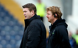 Worcester Warriors' head coach, Carl Hogg and Worcester Warriors' defence coach, Simon Cross - Mandatory by-line: Robbie Stephenson/JMP - 28/01/2017 - RUGBY - Sixways Stadium - Worcester, England - Worcester Warriors v Harlequins - Anglo Welsh Cup