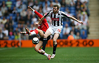 Photo: Rich Eaton.<br /> <br /> West Bromwich Albion v Barnsley. Coca Cola Championship. 01/09/2007. West Bromwich Albion's James Morrison (r) who scored in the first half fends off the challenge of Robert Kozluk.