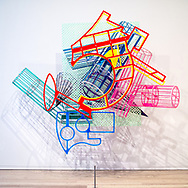 La Penna Di Hu (1987-2009)  Frank Stella: A Retrospective at the Whitney Museum.