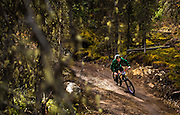 Dylan Sands rounds a corner on Drop the Clutch trail at Mount Sima during Slam Fest on Sept. 18, 2016. It was the final day the chairlift would be running for bikes at Sima before the Dec. 2 opening date for the ski hill's winter season.