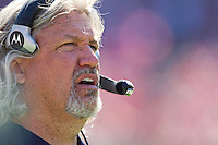 18 September 2011: Defensive coordinator Rob Ryan of the Dallas Cowboys coaches against the San Francisco 49ers during the first half of the Cowboys 27-24 overtime victory against the 49ers in an NFL football game at Candlestick Park in San Francisco, CA.