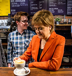 Pictured: <br /> <br /> Nicola Sturgeon headed to Stirling today and joined locl SNP MSP Bruce Crawford and SNP council candidates and activists as she warned that the Tories will use an election victory to betray pensioners yet again.<br /> Ger Harley | EEm 25 April 2017