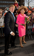 Krimpen aan den IJssel , 21-2-2017 <br /> <br /> King Willem-Alexander and Queen Maxima visit Krimpernerwaard.<br /> <br /> ONLY PUBLICATION IN FRANCE<br /> <br /> <br /> COPYRIGHT: ROYALPORTRAITS EUROPE/ BERNARD RUEBSAMEN