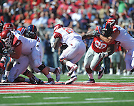 Ole Miss' Uriah Grant (98) vs. Arkansas at Vaught-Hemingway Stadium in Oxford, Miss. on Saturday, October 22, 2011. .