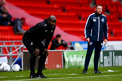 Doncaster Rovers manager Darren Moore and Bristol Rovers manager Graham Coughlan - Mandatory by-line: Robbie Stephenson/JMP - 19/10/2019 - FOOTBALL - The Keepmoat Stadium - Doncaster, England - Doncaster Rovers v Bristol Rovers - Sky Bet League One