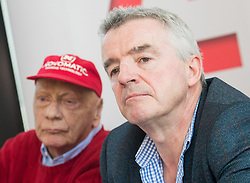 28.03.2018, Haas Haus, Wien, AUT, Laudamotion, Pressegespräch mit Niki Lauda, im Bild Vorsitzender Ryanair Michael O'Leary und Niki Lauda // CEO of Ryanair Michael O'Leary and Niki Lauda during media conference of Laudamotion in Vienna, Austria on 2018/03/28. EXPA Pictures © 2018, PhotoCredit: EXPA/ Michael Gruber
