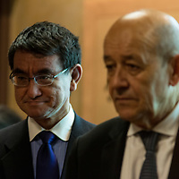 Le Drian and Florence  Parly in Japan