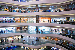 Interior of modern shopping Mall at Times Square in Hong Kong