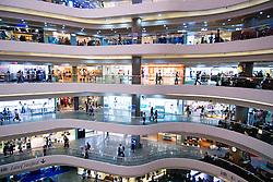 Interior of modern shopping Mall at Times Square in Hong Kong