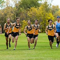 Start of the men's 8K during the annual Cougar Trot on September 17 at Douglas Park. Credit: Arthur Ward/Arthur Images