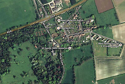 © Licensed to London News Pictures. 03/04/2016. West Heslerton UK. Picture shows a map of West Heslerton. The quintessential Yorkshire village of West Heslerton is up for sale at a price of £20M. The estate has a 21 bedroom historic hall, 43 houses, a pub, garage, church & playing fields. Former owner Miss Eve Dawnay died five years ago & she left a perfectly preserved village that has been untouched for 50 years. Her family are now selling the estate & hopefull of finding a buyer who will share Miss Dawnay's wish to conserve a bucolic way of life. Photo credit: Andrew McCaren/LNP