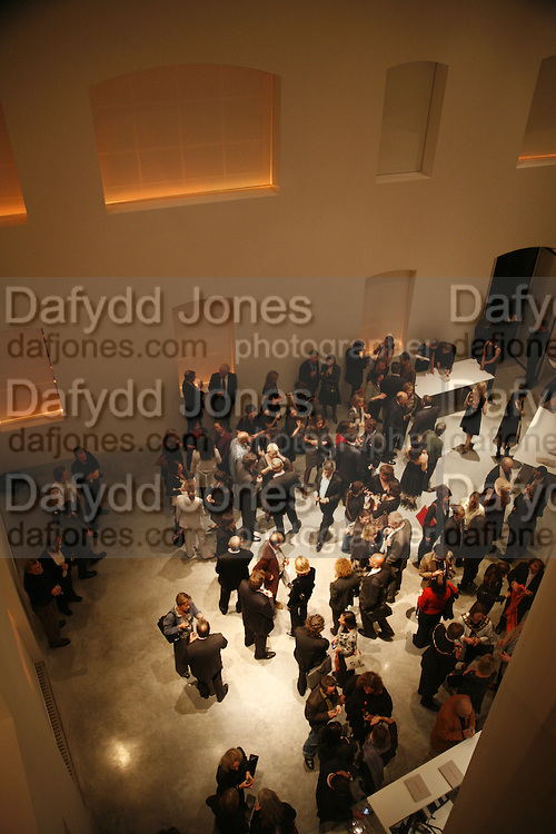 overhead view of entrance hall, THE LOUISE T BLOUIN INSTITUTE OPENS WITH INAUGURAL EXHIBITION: James Turrell: A Life in Light Exhibition. OLAF ST. LONDON. 12 OCTOBER 2006.  -DO NOT ARCHIVE-© Copyright Photograph by Dafydd Jones 66 Stockwell Park Rd. London SW9 0DA Tel 020 7733 0108 www.dafjones.com