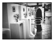 Subway bathroom, Tokyo, Japan.